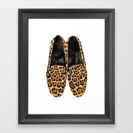 Leopard Loafers Framed Art Print