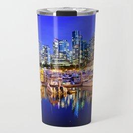 Vancouver Marina at Night Travel Mug