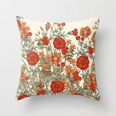 Vintage Garden 10 (Sunset Beauty) Throw Pillow