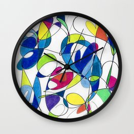 Spectrum Abstract #2 Wall Clock