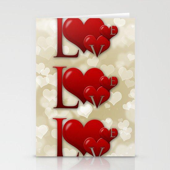 Love! Love! Love!  Stationery Cards