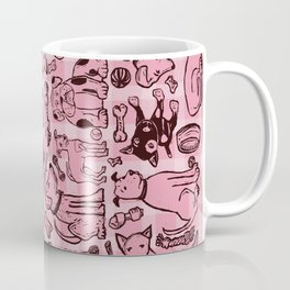 Pup Party in Pink Gingham Coffee Mug