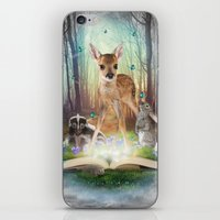 roald dahl iPhone & iPod Skins featuring Believe In Magic • (Bambi Forest Friends Come to Life) by soaring anchor designs