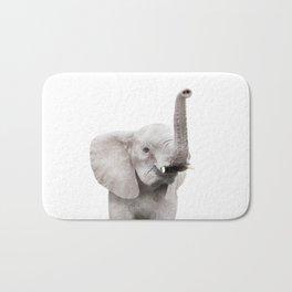 Baby Elephant Portrait Bath Mat