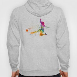 Woman soccer player 11 in watercolor Hoody