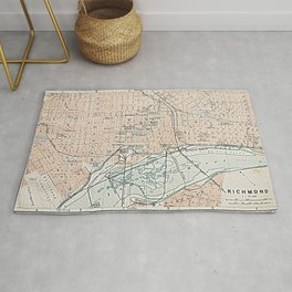 Vintage Map of Richmond VA (1904) Rug