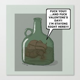 getting sloshed with your heart Canvas Print