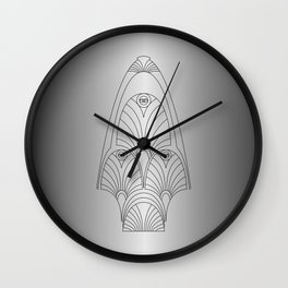silver night star Wall Clock