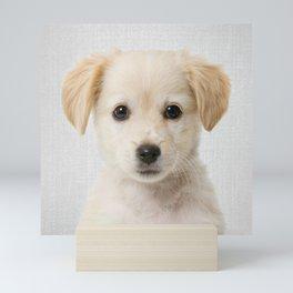 Golden Retriever Puppy - Colorful Mini Art Print
