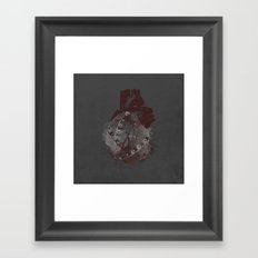 tin heart Framed Art Print