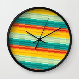Colorful Stripes Motif Wall Clock