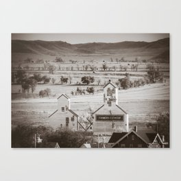 Elevators, Sentinel Butte, North Dakota Canvas Print