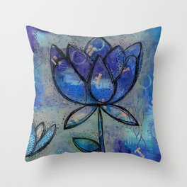 Abstract - Lotus flower - Intuitive Throw Pillow