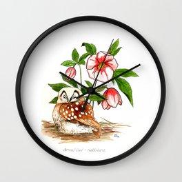 Sleeping Owl Wall Clock