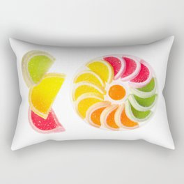 multicolored chewy gumdrops sweets Rectangular Pillow