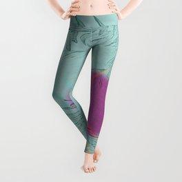 purple sun Leggings