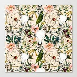 Floral bohemian pattern Canvas Print