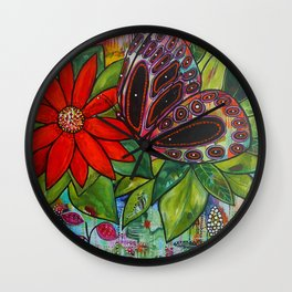 Daintree Butterfly Wall Clock