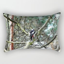Woodpecker at work Rectangular Pillow