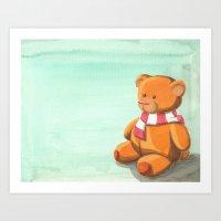 teddy bear Art Prints featuring Teddy by CMMart