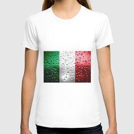 Flag of Italy - Raindrops T-shirt