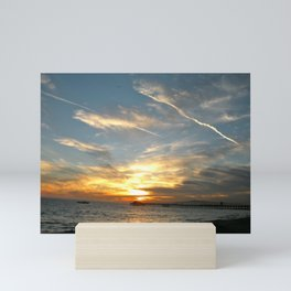 Sunset at Seal Beach Mini Art Print