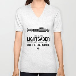 This is my Lightsaber (Luke Version) Unisex V-Neck