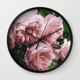 Pale pink Rose Sandi Wall Clock