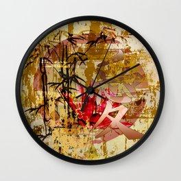 Asiatisches Schriftzeichen Liebe Wall Clock