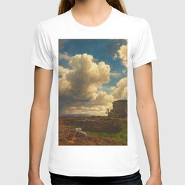 Landscape in Campagna Italy with Gathering Storm by Oswald Achenbach T-shirt
