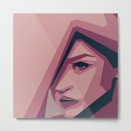 Woman illustration Beauty minimal Metal Print