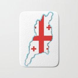 Georgia (Country) Map with Georgian Flag Bath Mat