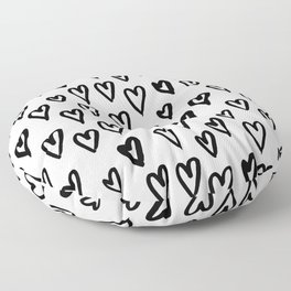 Hearts Pattern 01 Floor Pillow