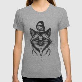 Little Fox & Bluetit (Kleiner Fuchs und Blaumeise) Friends - You & Me T-shirt
