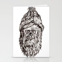 chewbacca Stationery Cards featuring Hipster Chewbacca  by LaurenNoakes