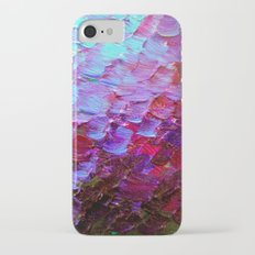MERMAID SCALES - Colorful Ombre Abstract Acrylic Impasto Painting Violet Purple Plum Ocean Waves Art Slim Case iPhone 7