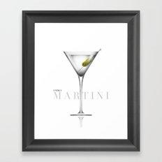 Vodka Martini Framed Art Print