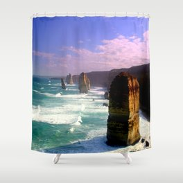 Rock Stacks Shower Curtain