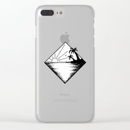 Triangle paradis 2 Clear iPhone Case