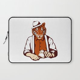 Tiger Poker Face Laptop Sleeve