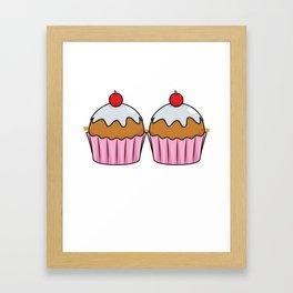 Cupcake Bra Cute Funny Brassiere Fake Lazy Costume Framed Art Print