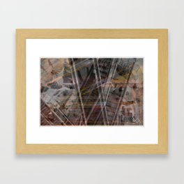 BANGKOK PLAID Framed Art Print