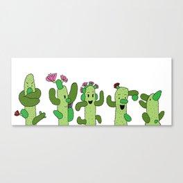 Cactus Family (colour version) Canvas Print