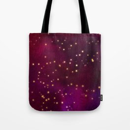 Plum Gold Stars Tote Bag