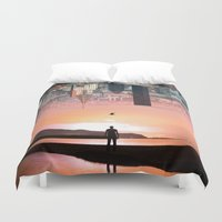 cityscape Duvet Covers featuring Cityscape by Enkel Dika