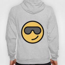 Smiley Face   Cool Sunglasses Happy Face   Cute Grey Glasses Hoody
