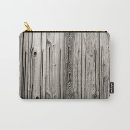 Black white and grey  wooden floor Carry-All Pouch