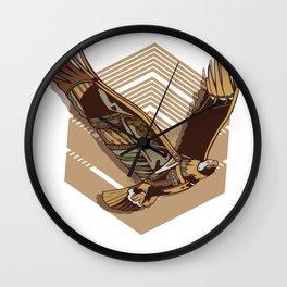 Steampunk eagle Wall Clock