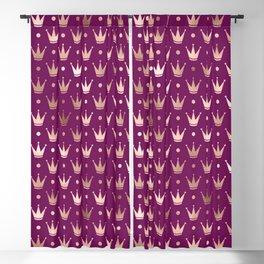 Purple & Rose Gold Crown Pattern Blackout Curtain