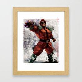 M Bison Framed Art Print